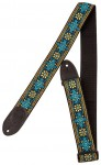 Gretsch G brand strap blue, orange with black ends