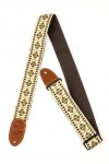 Gretsch G brand strap diamond with brown ends 9220060101