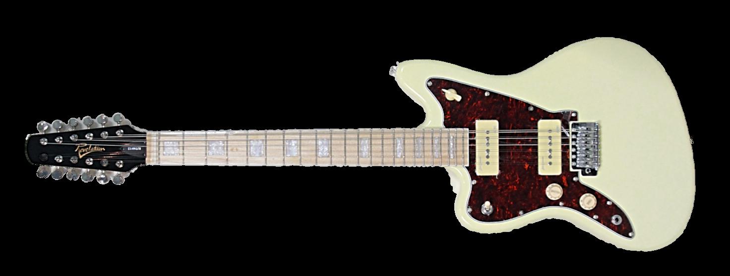 revelation rjt60 12 electric 12 string guitar left hand vintage white vintage modern guitars. Black Bedroom Furniture Sets. Home Design Ideas