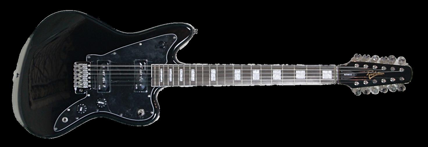 revelation rjt 60 12 string black vintage modern guitars. Black Bedroom Furniture Sets. Home Design Ideas