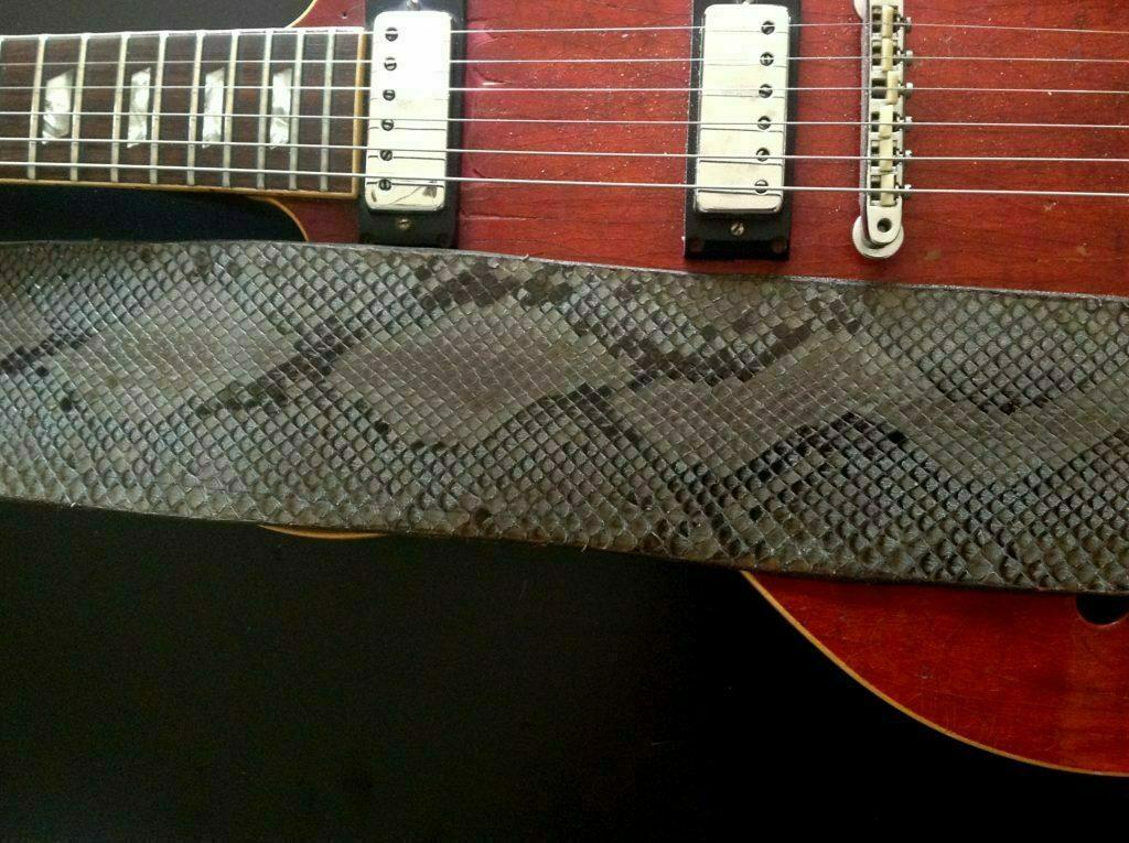 R Amp B Leathers Usa Genuine Python Snake Skin Guitar Strap