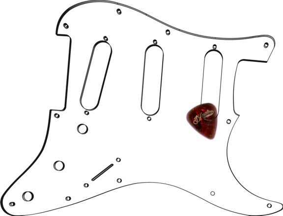 greasy groove pickguard - stratocaster clear