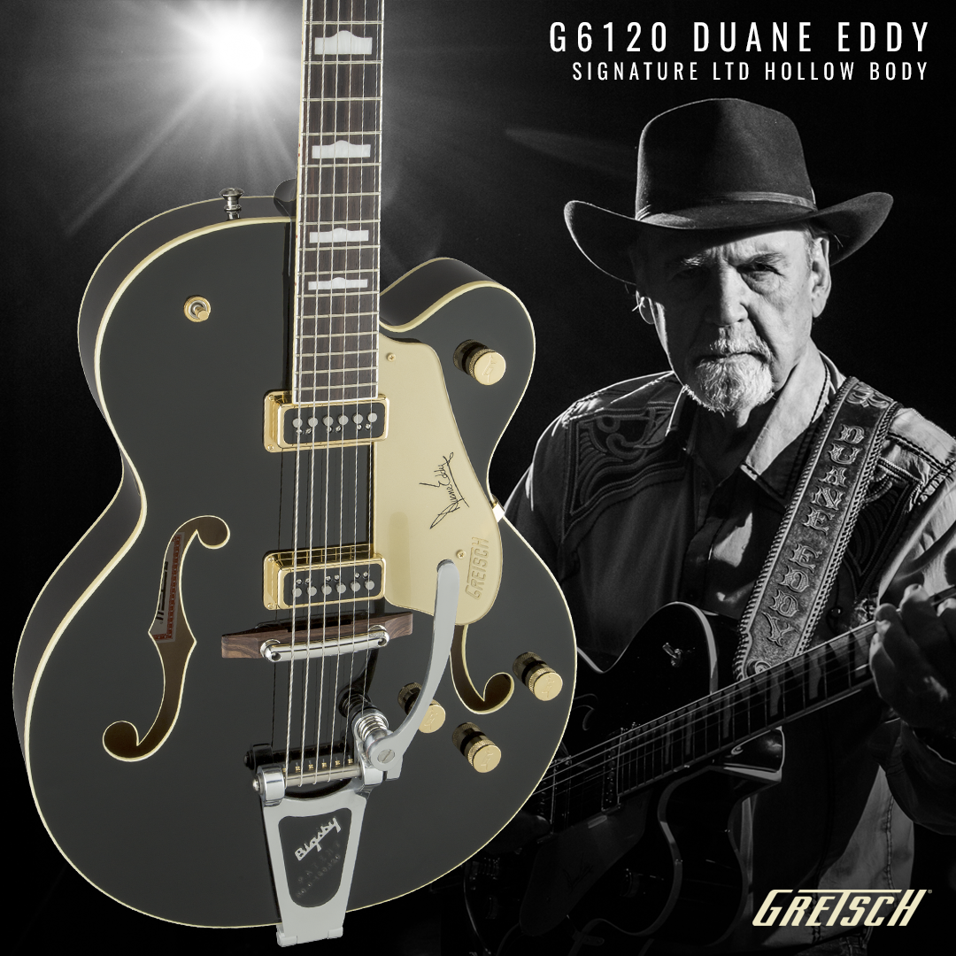 Gibson Guitars For Sale >> Gretsch G6120 Duane Eddy Signature Black Lacquer - Vintage ...
