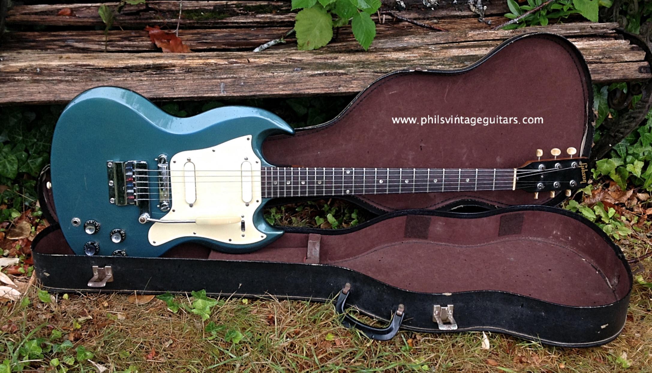 1967 Gibson SG Melody Maker Pelham Blue